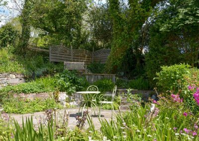 The garden at The Thatch Cottage, South Petherwin