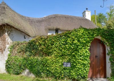 Outside The Thatch Cottage, South Petherwin