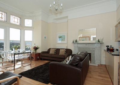 The living area @ The View, Pentowan House, Newquay