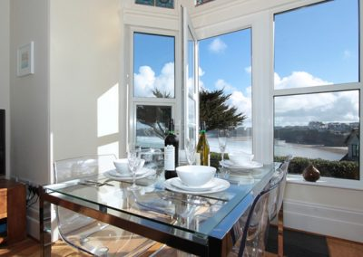The dining area @ The View, Pentowan House, Newquay