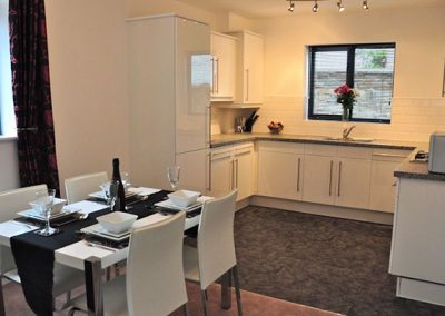 The open-plan kitchen & dining area @ The Waterwheel Apartment, Charlestown