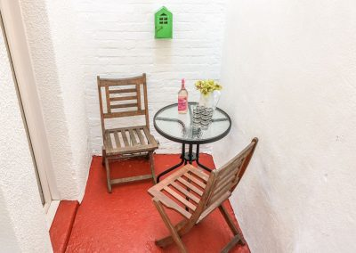 The suntrap courtyard at Tolvarne, Teignmouth