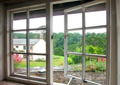 The view from bedroom #1 at Tom, Blisland