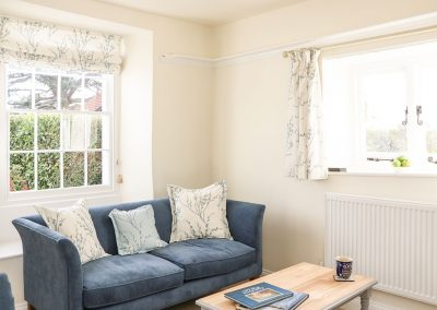 The living area at Travershes Cottage, Withycombe Raleigh