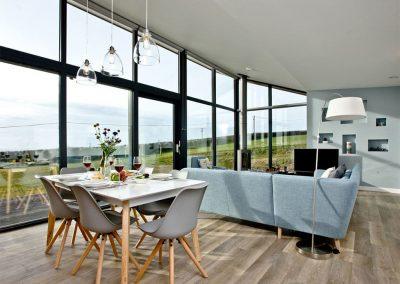 The dining & living area at Trebarwith, Wooda Farm, Bush