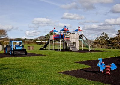 The children's play area at Wooda Farm, Bush