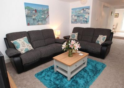 The living area at Tree Tops, Camelford