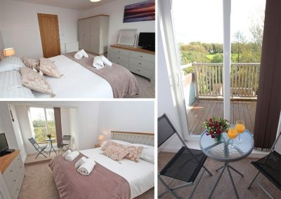 Bedroom #1 at Tree Tops, Camelford