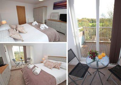 Bedroom #1 at Tree Tops, Camelford