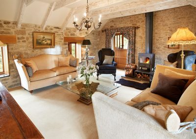 The living area at Tregadjack Barn, Prospidnick
