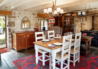 The kitchen & dining area at Tregadjack Barn, Prospidnick