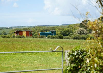 The restored Helston Railway which will stop for you at the bottom of the garden at Tregadjack Barn, Prospidnick