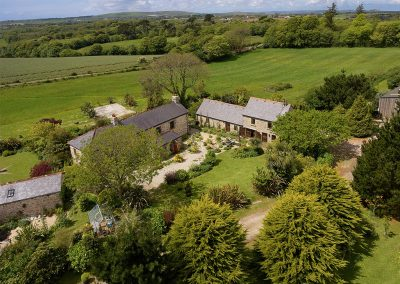 Tregadjack Barn & Tregadjack Farmhouse have fine views across rolling farmland