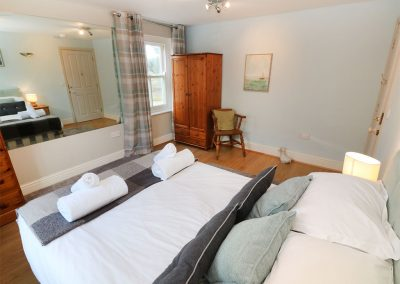 Bedroom #9 at Tregoninny Vineyard and Woodland Farmhouse, Tresillion