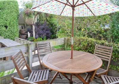 The decked patio at Trelawn, Phillack