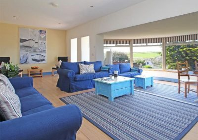The living area at Trelawns, Trenance