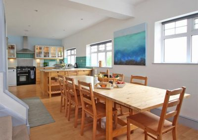 The kitchen & dining area at Trelawns, Trenance