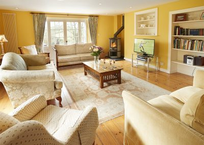 The living area at Trencreek Farmhouse, Tregony