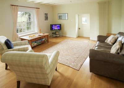 The TV room at Trencreek Farmhouse, Tregony