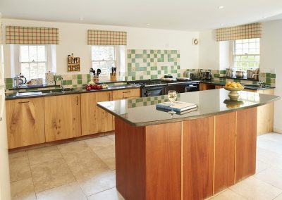 The kitchen at Trencreek Farmhouse, Tregony
