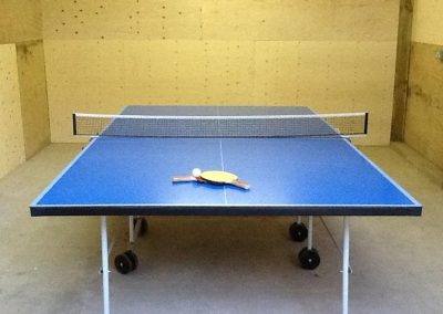 The full size table tennis in the barn at Trencreek Farmhouse, Tregony