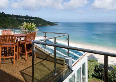Spectacular views from the balcony @ Trencrom Villa, St Ives