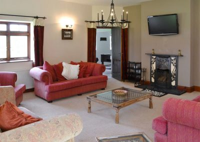 The living area at Trescowthick Barn, St Newlyn East