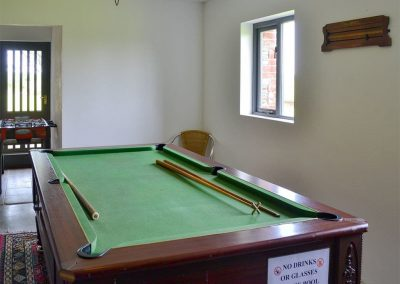 The games room at Trescowthick Barn, St Newlyn East