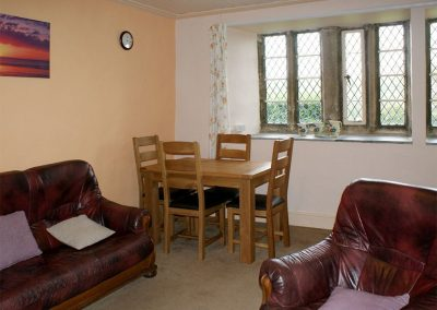 The living area at Tresungers Cottage, St Endellion