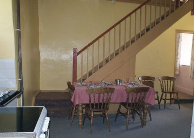 The dining area at Tresungers Cottage, St Endellion