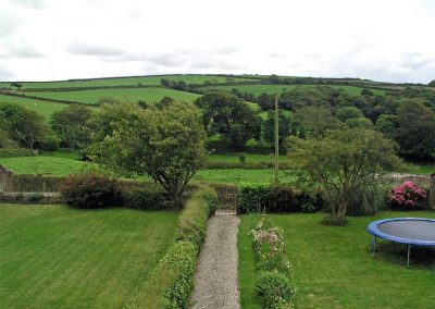 The garden at Tresungers Cottage, St Endellion