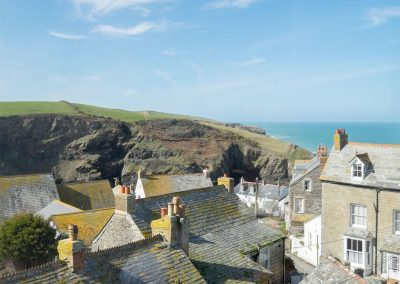 The stunning view from the second floor at Trethowey, Port Isaac