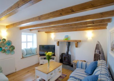 The living area at Trethun, Porthleven