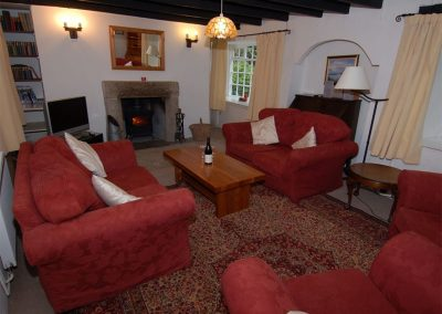 The living area at Trevalley, Pendoggett
