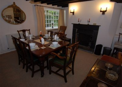 The dining area at Trevalley, Pendoggett