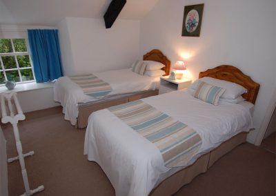 Bedroom #3 at Trevalley, Pendoggett