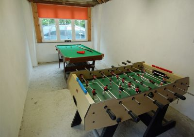 The games room at Trevalley, Pendoggett