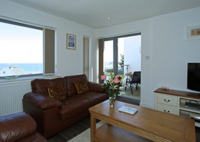 The open plan living area @ Trevena, Newquay