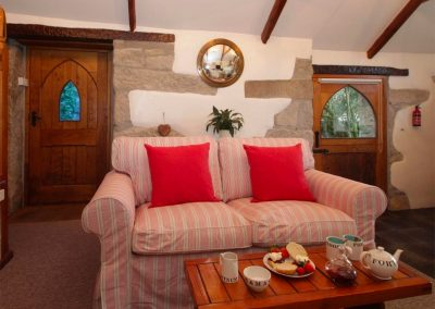 The open-plan living area at Trevenning Chapel, Michaelstow