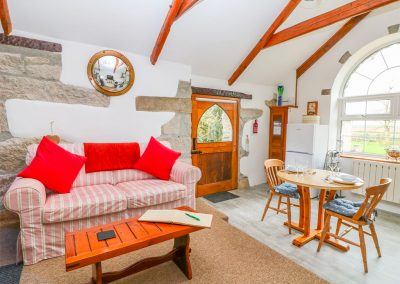 The open-plan living & dining area at Trevenning Chapel, Michaelstow