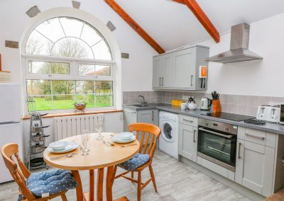 The open-plan dining area & kitchen at Trevenning Chapel, Michaelstow