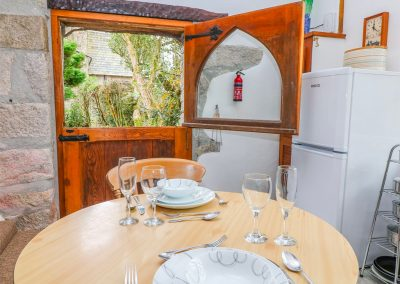 The open-plan dining area at Trevenning Chapel, Michaelstow