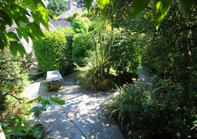 The outdoor courtyard at Trevenning Chapel, Michaelstow