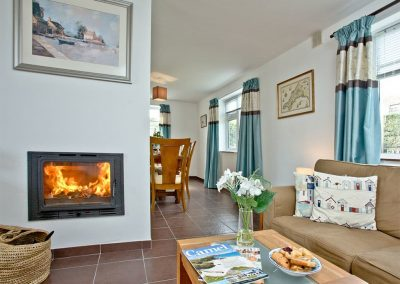 The living area at Trevistas, Padstow