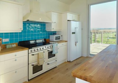 The kitchen at Trevose View, Widemouth Bay