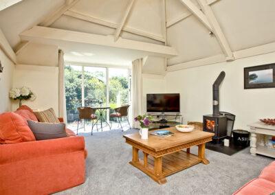 The living area at Twysden Cottage, West Charleton Grange, West Charleton