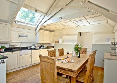 The kitchen & dining area at Twysden Cottage, West Charleton Grange, West Charleton