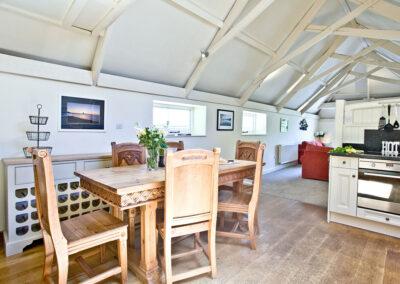 The dining area at Twysden Cottage, West Charleton Grange, West Charleton