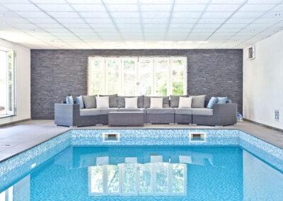 The indoor heated swimming pool at West Charleton Grange, West Charleton