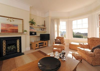 The living area at Upper Knutsford, Exmouth